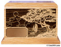 Laser Engraved Wooden Keepsake Urn - Seascape
