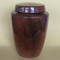 Hand Turned Black Walnut Urn - Double Urn Size