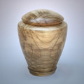 Hand Turned Tranquility Maple Wood Cremation Urn