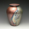 Handmade Simple Raku Ceramic Cremation Urn