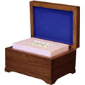 Mahogany Memory Chest with Biodegradable Pink Floral Bouquet Urn