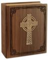 Celtic Cross Bible Urn in Walnut