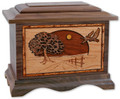 Road Home Cremation Urn in Walnut Wood