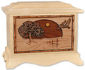 Road Home Cremation Urn in Maple Wood