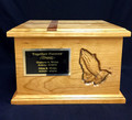 Cherry Wood Companion Urn with Name Plate