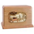 Soulmates Companion Cremation Urn - Oak Wood