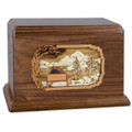 Soulmates Companion Cremation Urn - Walnut Wood