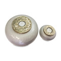 Brass Tealight Candle Cremation Urns in White and Gold