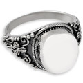 Antique Round Sterling Silver Cremation Ring