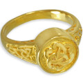 14k Gold Plated Celtic Cremation Ring
