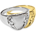 Engraveable Shield Cremation Ring for Cremated Remains
