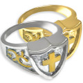 Bold Men's Cross Cremation Ring
