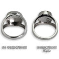 Elegant Oval Personalized Footprint Memorial Ring