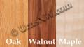 Wood Choice for Urn Box: Oak Walnut Maple