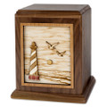 Cape Hatteras Lighthouse - Walnut Wood Companion Urn