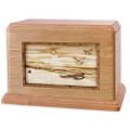 Hawaiian Beach w/ Outrigger Canoe Companion Urn - Oak