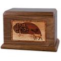 Heartland Deer Wood Companion Urn - Walnut