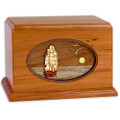 Sailing Ship Wood Companion Urn - Mahogany