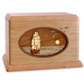 Sailing Ship Wood Companion Urn - Oak