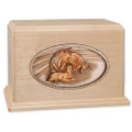 Maple Wood Companion Cremation Urn - Forever Love Horses