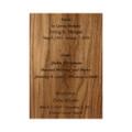 Laser Engraved Inscription Sample - Walnut Wood