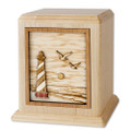 Cape Hatteras Lighthouse Cremation Urn - Maple Wood