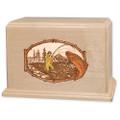Stream Fishing Wood Companion Urn - Trout - Maple