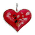 "Heart Memorial Necklace Made From Cremated Remains - ""Mosaic"""
