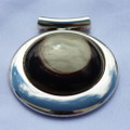 Large Round Deluxe Cremation Necklace Made from Hair - Clear