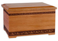 Mahogany Wood Companion Urn