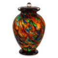 Amato Autumn Hand Blown Glass Cremation Urn