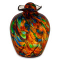 Hand Blown Glass Funeral Urn - Bella - Autumn