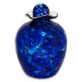 Hand Blown Glass Funeral Urn - Bella - Water