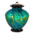 Greco Hand Blown Glass Funeral Urn - Aegean