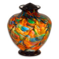 Greco Hand Blown Glass Funeral Urn - Autumn