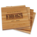 Set of four beautifully engraved memorial coasters, ideal as a sympathy gift