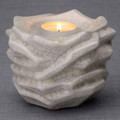 "Tealight Cremation Urn Keepsake with ""crackle"" finish"