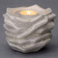 "Tealight Cremation Urn Keepsake with ""crackle"" finish"