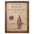 Sailing Wood Cremation Urn Plaque