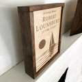 Sailboat Wall Mounted Wood Cremation Urn Plaque