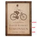 Male Cyclist Urn - Inscription Options