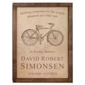 Bicycle Wall Mounted Wood Cremation Urn - Vintage Bike