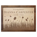 Butterflies & Tulips Wood Cremation Urn Plaque