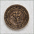 Navy Military Urn Medallion