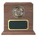 Coast Guard Medallion Walnut Military Urn