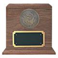 Navy Medallion Walnut Military Urn