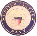 Urn Medallion: Navy