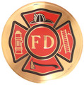 Urn Medallion: Fire Department