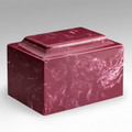 Classic Cultured Marble Urn in Wine Red (Berry)
