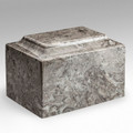 Classic Cultured Marble Urn in Cashmere Gray